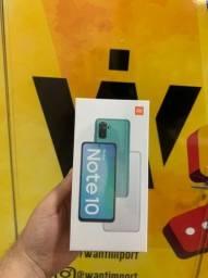 Redmi Note 10, 4GB + 64GB - Cinza/Verde