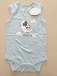 Body Disney sem manga novinho algodão sustentável