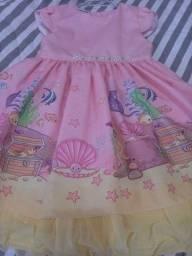 Vestido festa pequena sereia