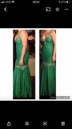 Vestido verde longo de festa