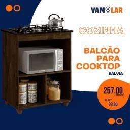 Título do anúncio: Balcão para Cooktop Salvia - 5 bocas - Frete Grátis.