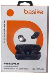 [ Fascinante ] Fone de Ouvido Sem Fio Basike Ba-FON6692