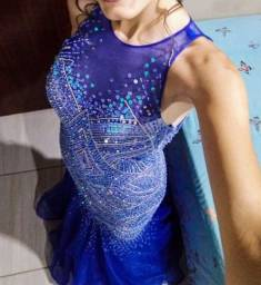 Vestido Pedraria Azul Importado