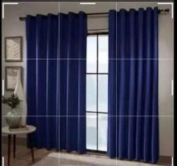 Pronta entrega lindas cortinas tecido Oxford longas 2,80×2,50 Novas