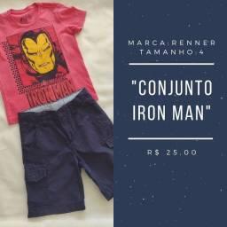Conjunto Renner, Homem de Ferro, tam. 4.