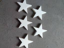 Estrela decorativo fibra de vidro 20cm