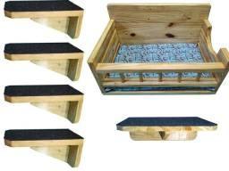 Nicho / playground para gatos feito em madeira