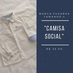 Camisa manga longa, tam. 4, marca Fuzarka.