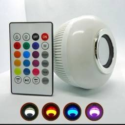 Lampada Musical De Led Bulbo Bluetooth Rgb + Controle Remoto