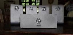Conjunto de 5 caixinhas para Home Theater Philips