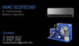 Instalação, manutenção e higienização de ar condicionado e câmara fria
