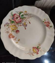 Prato de porcelana inglesa marca j&g mekin da década de 40 perfeitos e