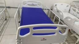 Cama Hospitalar Manual com Regulagem de Altura