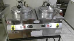 Fritadeira De Frango À Pressão 2 Cestos De 4,5 Litros