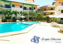 Apartamento a 100 metros da praia no Porto das Dunas com 2 quartos e projetado!