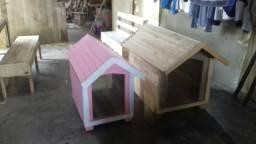 Casinhas de cachorros feito de paletes reforçadas