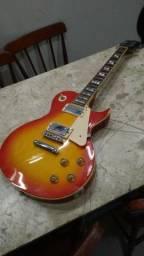Guitarra Les Paul SX GG1 Vermelho com Amarelo