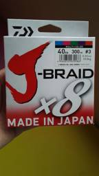 Linha Daiwa J Braid x8 multifilamento nova 300m