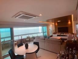 Apartamento de luxo na beira-mar, 160m2, 3 suítes, 4 vagas independentes, lazer completo