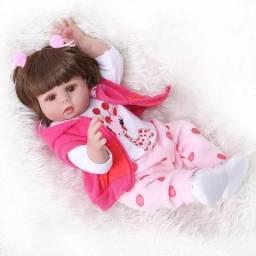 Boneca bebê reborn corpo de silicone em promoção