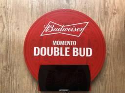 Relógio de parede em LED Budweiser