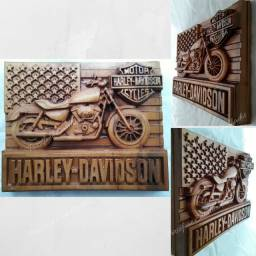 Harley Davidson  em madeira