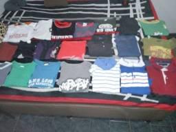 Lote 30 camisas novas originais masculinas G+30 cabides