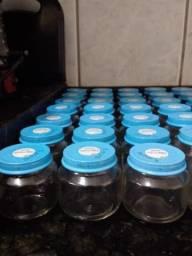 70 potinhos de vidro de papinha nestle - para artesanatos
