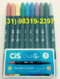 Marcador artístico dual brush c/10 marcar cis