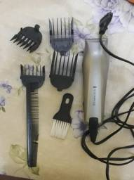 Máquina de cortar cabelo com acessórios, 220V