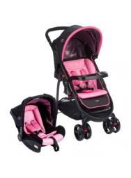 Carrinho de Bebê e Bebê Conforto Cosco Travel System Nexus - Rosa