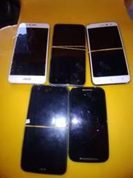 Lote de celular pra retirar peças