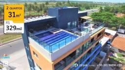 2 Quartos | 31m² | Flats em Porto de Galinhas | Pernambuco