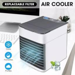 Mini ar condicionado portátil, umidificador, purificador, resfriador e ventilador com USB