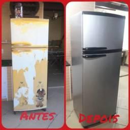 Envelopamento de geladeira entre outros