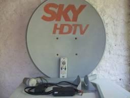 Sky Completa antena cabos receptor+controle e parafusos