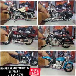 Miniatura Harley Deividson escala 1/18 em metal