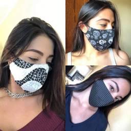 Máscaras em tecido duplo<br><br>