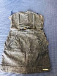 Vestido tomara que caia jeans Planet Girls