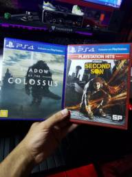 Ps4 Jogos - Shadow of the colossus e Infamous