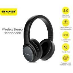 Fone Bluetooth 5.0 AWEI a780bl Qualidade de som excelente.