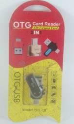 Adaptador Smartphone OTG 2 em 1 YHL-18 / Produto Novo
