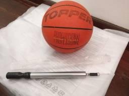 Kit bola de basquete Topper profissional + bomba de encher