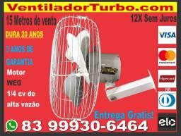 Ventilador Turbo Industrial Super Potente, dura 20 Anos, 15 metros alcance, Motor 1/4cv