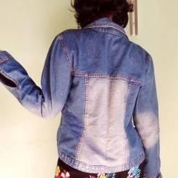 Jaqueta jeans e pantacurta