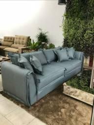 Sofa Líving fixo Com Almofadas