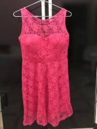 Vestido renda pink