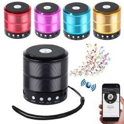 Mini Caixa de Som Bluetooth C/ FM Usb Micro Sd e Auxiliar