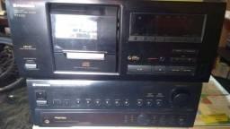 Receiver amplificador e toca cds 25 disco da Pioneer