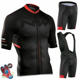 Roupa montain bike northwave + bomba de encher pneu